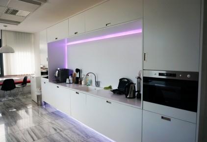 white kitchen designed by Vasileios Zygouris